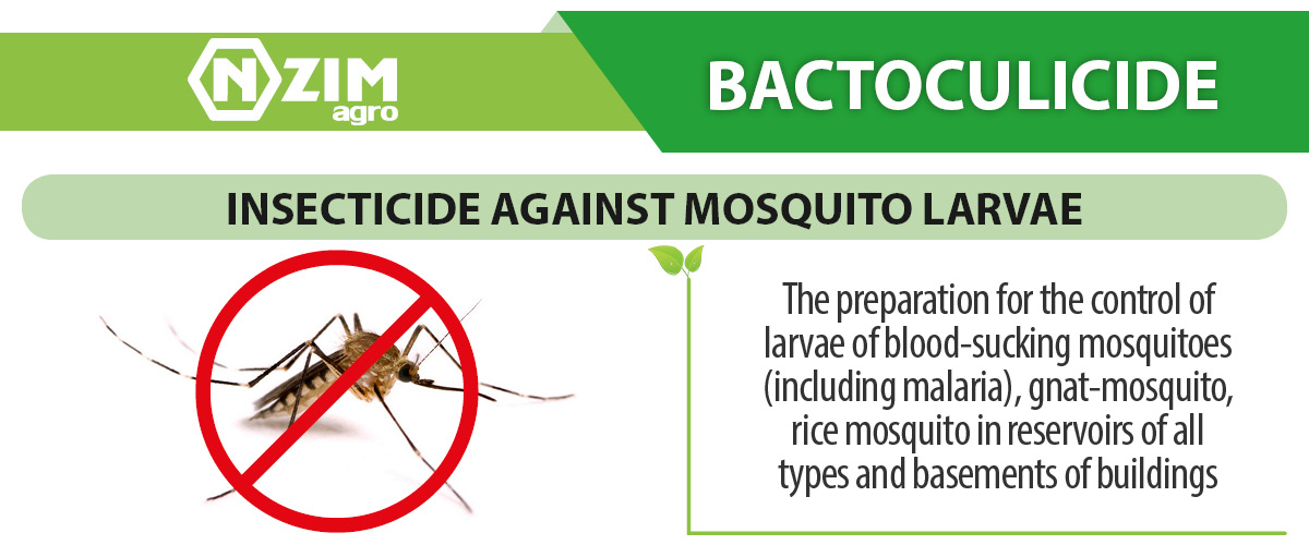 Bactoculicide - insecticide against mosquito larvae
